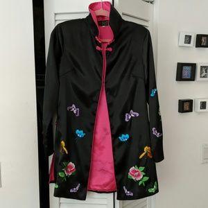 Oriental style silk coat